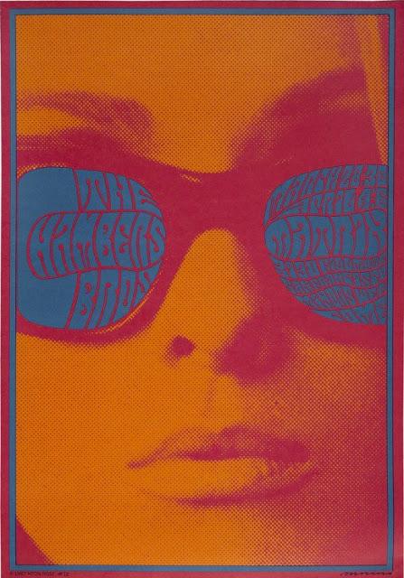 cartel concierto chambers bros marzo 1967, sala matrix san francisco victor moscoso