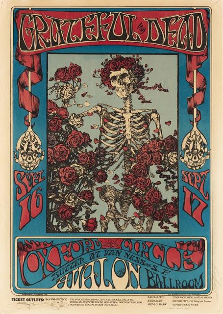 cartel concierto de grateful dead en avalon ballroom, septiembre de 1966 (alton kelley)
