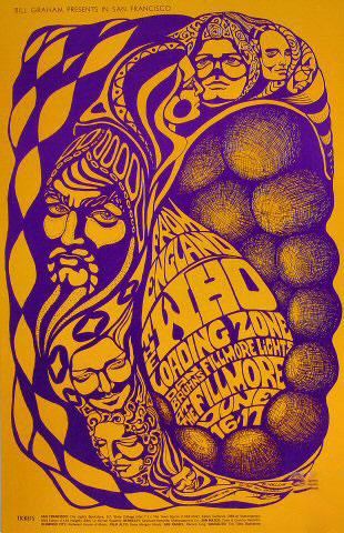 cartel concierto the who en el fillmore junio 1967 bonnie maclean