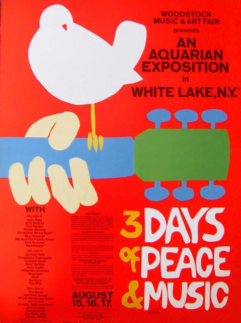 cartel festival woodstock agosto 1969 arnold skolnick
