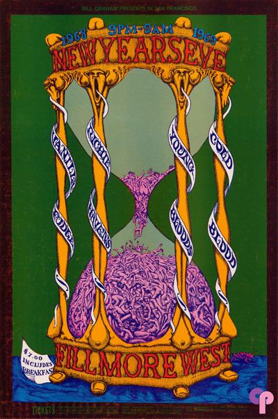 cartel fillmore west vanilla fudge richie havens youngbloods cold blood 31 diciembre 1968 lee conklin