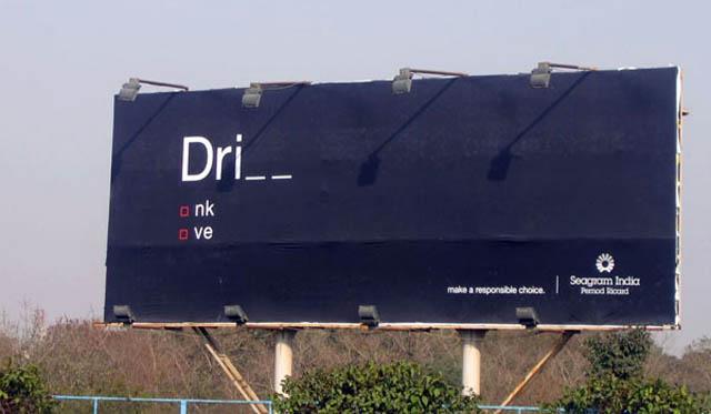carteles publicitarios drink drive