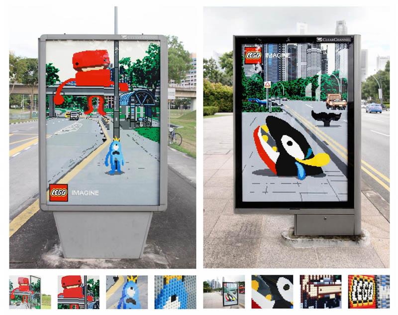 carteles publicitarios lego calle