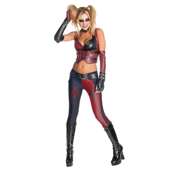 disfraces halloween 3 - harley quinn version batman arkham city