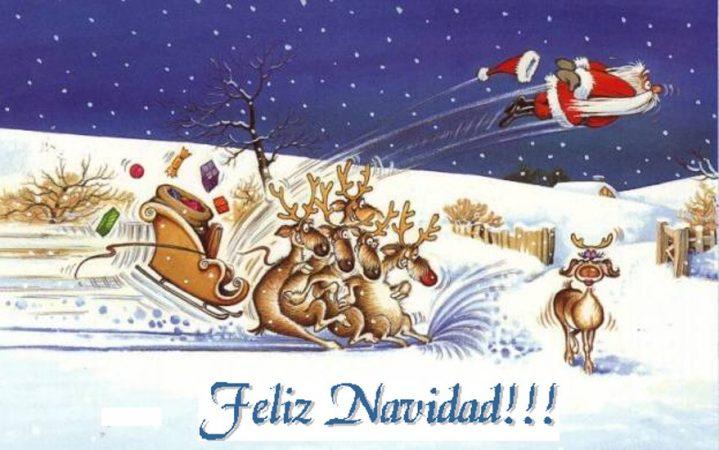felicitaciones de navidad 7 graciosa papa noel despedido