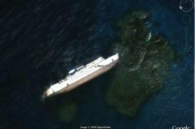 google earth - barco desaparecido y encontrado gracias a google earth