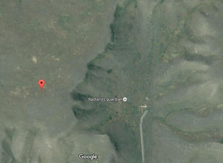 google earth - el rostro de la madre tierra (badlands guardian)