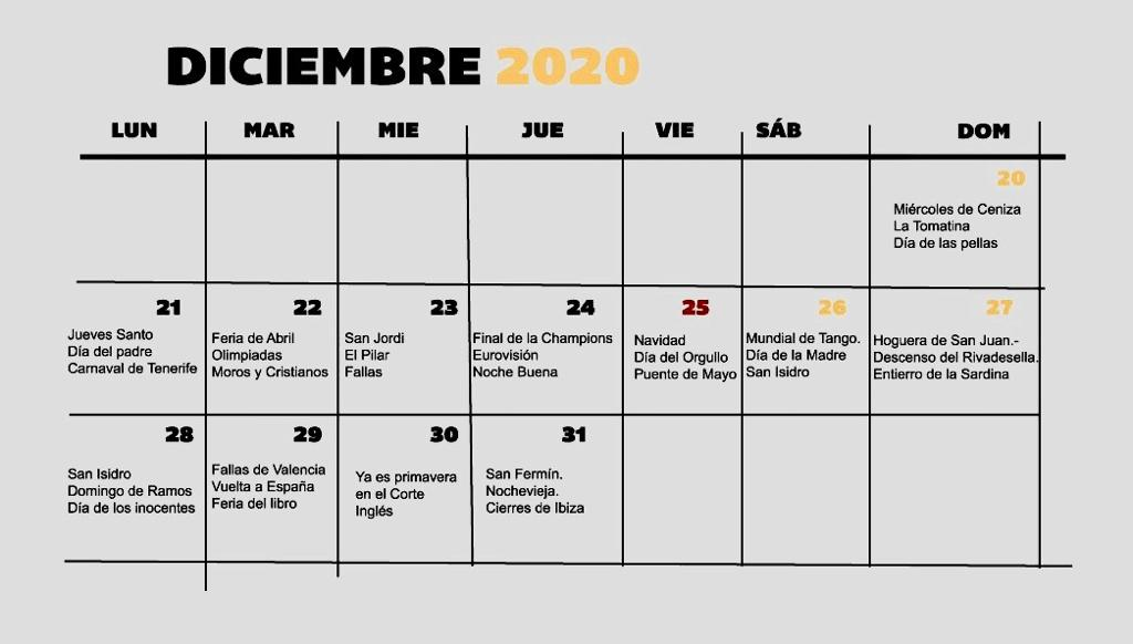 memes coronavirus calendario festivo 2020