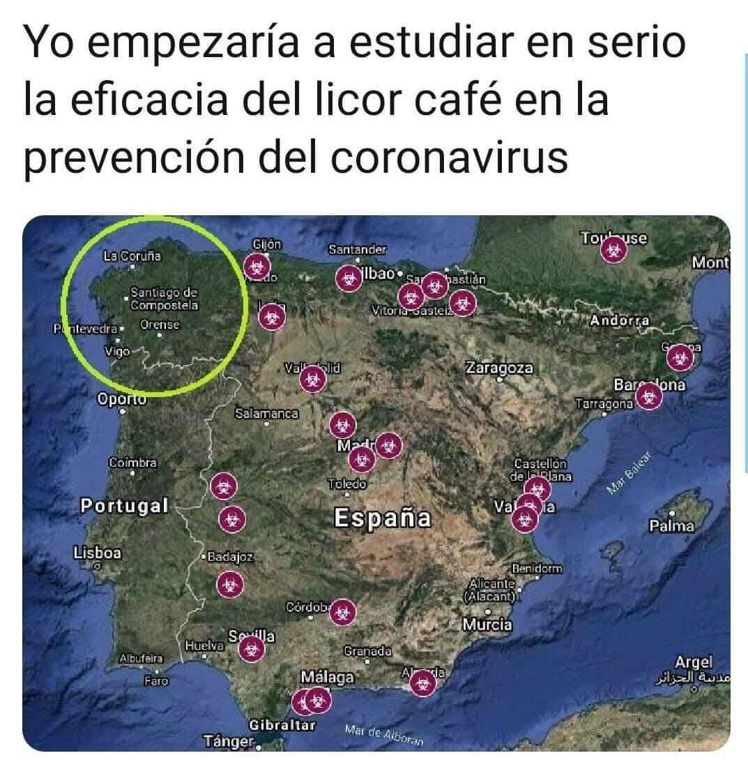 memes coronavirus eficacia licor cafe