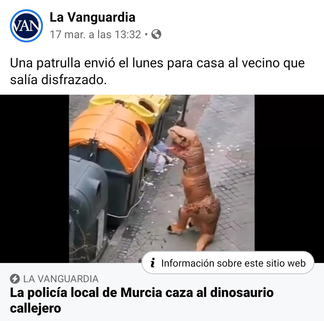 memes coronavirus policia local de murcia caza al dinosaurio callejero