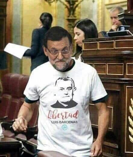 memes mocion de censura mariano rajoy - libertad luis barcenas