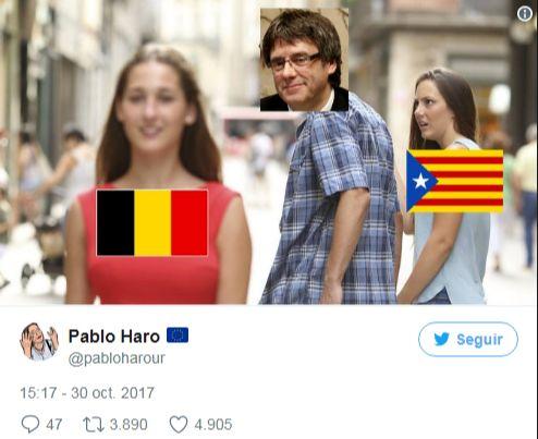 puigdemont cataluña celosa de belgica